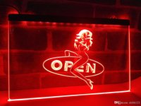 Wholesale girl bar neon light sign - LB033b- OPEN Sexy Sex Girls Pub Bar Club LED Neon Light Sign