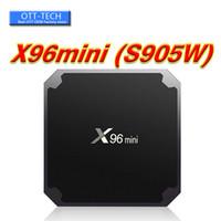 lecteur multimédia pour pc achat en gros de-Android Smart TV Box Amlogic S905W Quad Core 2 Go de RAM 16 Go ROM X 96 Mini Android 7,1 Mini PC 1 G / 8 G 4 K H.265 Lecteur multimédia en streaming 2.4G Wifi