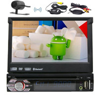 Wholesale Transmitter Remote Control Car - Android 6.0 1Din Auto radio Stereo Multi Screen Car DVD Player+GPS,BT,RDS,WIFI,Touch Screen + Rear View Camera + Remote Control
