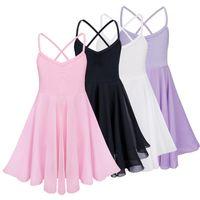 kinder bauchtanz tragen großhandel-Mädchen Ballett Kleid für Kinder Baby Mädchen Dance Kleidung Kinder Ballett Kostüme für Mädchen Tanz Gymnastik tragen Mädchen Dancewear