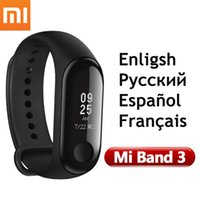 Wholesale 2018 New Original Xiaomi Mi Band Mi Band MiBand With OLED Big Touch Screen Smart Wristbands Bracelet Heart Rate Fitness
