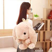 ingrosso sacchetto del giocattolo del giappone-Bella scuola zaino Kawaii coniglio peluche zaino Giappone Lolita Bunny giocattoli morbidi per le ragazze di compleanno sacchetto della peluche