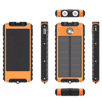 Wholesale bateria power bank for sale - Group buy Solar Power Bank mAh Dual USB Waterproof Solar Bateria Externa Portable Charger Powerbank With LED Light Compass For smartphone