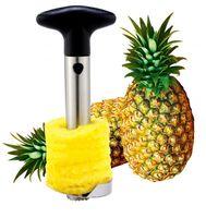cuchillos de piña al por mayor-Creativo de Acero Inoxidable Fruta Piña Corer Piña Cortadoras Herramientas de Cocina Piña Pelador Parer Cuchillo