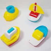 color de agua del barco al por mayor-Juguete de los niños Agua Diversión Baño Juguete Barco Regalo Color Simulado Pequeño Velero Bebé Juego de rompecabezas interactivo 6 25hg W