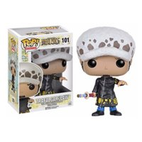Wholesale one piece action figure pop - Funko POP Anime: One Piece TRAFALGAR LAW Vinyl Action Figure With Box #101 Popular Toy Gify