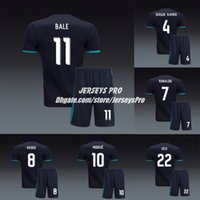 Wholesale cristiano ronaldo black jersey for sale - Group buy Cristiano Ronaldo Madrid Uniforms Away Black Soccer Jerseys Kits Sergio Ramos Gareth Bale Karim Benzema Isco Luca Modric Marcelo