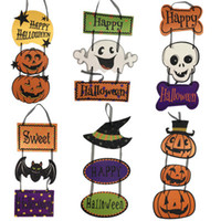 6 Styles Handmade Halloween Door Acce Pendant Kids Toys Children Gift Tools Basket Craft Supplies Birthday Party Decoration