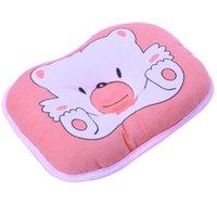 muster baby bettwäsche großhandel-Bär Muster Baby Kissen Neugeborenes Baby Stützkissen Pad Verhindern Flat Head Shaping Kissen Säugling Neugeborenen Kissen Bettwäsche