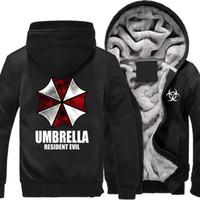guarda-chuva para impressão venda por atacado-Inverno Resident Evil guarda-chuva impresso Capuz dos homens Frota Quente Hoodies roupas de outono camisolas dos homens mulheres jaqueta moda hoodie streetwear