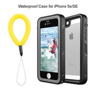 étuis iphone 5s outdoor achat en gros de-100% étanche boîtier pour iphone 5 s antichoc extérieur plongée plongée housse de protection pour iphone 5 s se coque