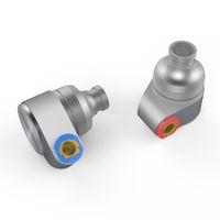 mmcx кабели оптовых-Олово аудио T2 3.5 мм в ухо наушники двойной динамический привод HIFI наушники бас DJ металл MMCX съемный отсоединить MMCX кабель