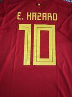 Wholesale medium jersey - adult 2018 world cup soccer kit team Belgium 10# Eden Hazard home red jersey size small medium large xl xxl xxx 4xll