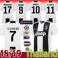 Wholesale l shorts - Thai New RONALDO JUVENTUS Soccer Jersey Men 18 19 7 JUVE CR7 9 Higuain 10 Dybala 11 Costa 17 Bernardesch 33 Football Shirt uniforms