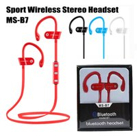 Wholesale Bluetooth Headset Smartphone - Sport Bluetooth 4.1 Wireless Stereo Headset MS-B7 Earphone Headphone Running Ear Hook Handsfree with Mic for for iPhone 7 Samsung Smartphone