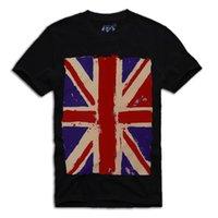 sindicato de vendas venda por atacado-2018 Verão Homem Ocasional T Shirt Uk Bandeira Union Jack Vintage Camiseta Sz.s-M-L, Grã-Bretanha Inglaterra Venda Quente Roupas Casuais