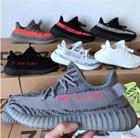 brand new 97173 eb7e2 Adidas Yeezy Boost 350 V2 GDe alta calidad de aceite de sésamo amarillo  hielo 36-46 350 v2 zapatos de diseñador Sply blanco negro 350 hombres y  mujeres ...