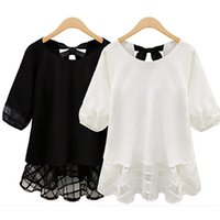 Wholesale girls plus size clothing online - 2015new fashion plus size L XL XXL XXXL XL XL Women s clothing girl summer lace chiffon shirt tops blouses
