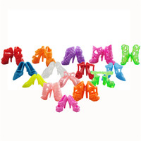 kids shoes pairs UK - Random 10 Pair Barbie Dolls Mixed Fashion Colorful Shoes Heels Sandals Doll Accessories For Barbie Doll Girl's Gift Kids Toy