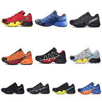 Wholesale outdoor lighted cross - 9 Color 2018 Salomon Speed Cross 4 outdoor Running Shoes Light Sneaker for Outdoor Walking Jogging Men Shoes