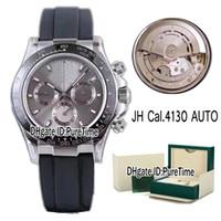 ingrosso migliore orologio automatico del cronografo-Best Edition 6vS 116519 cassa in acciaio ceramica Bezl quadrante grigio Cal.4130 cronografo automatico orologio uomo cronometro Rollie in gomma 4 stili Nuovo