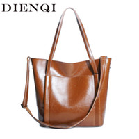 Wholesale patent genuine leather hand bag for sale - Group buy DIENQI Vintage Patent Leather Party Women Handbags New Arrivals Big Genuine Leather Female Shoulder Bags Ladies Retro Hand Bags