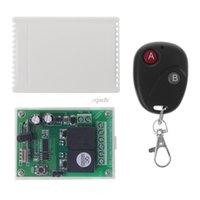 receptor transmissor sem fio de 433mhz rf venda por atacado-Interruptor de controle remoto sem fio DC12V 2CH RF 2-Button Transmitter + Receiver 433MHz