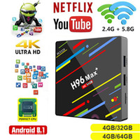 Wholesale Android H96 Max TV Box GB DDR3 GB Smart K TV Box RK3328 Quad Core CPU Support G G Dual Wifi M LAN BT D H265