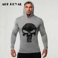 Wholesale plus size clothing skulls for sale - Ark Royal Retor Skull Autumn Men Bodybuilding Hoodies Sweatshirts Gyms Clothes Tracksuit Pullover Jacket Men Plus Size