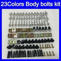 Wholesale Kawasaki 1992 - Fairing bolts full screw kit For KAWASAKI NINJA ZZR 250 1990 1991 1992 ZZR250 1993 1994 1995 98 1999 Body Nuts screws nut bolt kit 23Colors