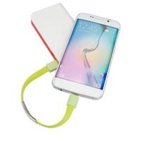 bilezik telefon şarj cihazları toptan satış-Fabrika Satış bilezik usb şarj veri kablosu Taşınabilir Mikro USB Bilezik Şarj akıllı telefon Için Veri şarj kablosu Sync usb kablosu