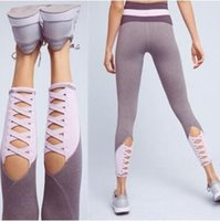 Wholesale plus size crop leggings resale online - Women High Waist Skinny Sexy Running Jogging Leggings Pants Crop Outdoor Gear Comfortable Plus Size Clothing CCA8432