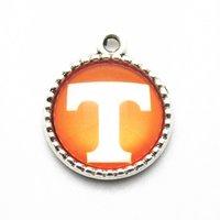 ingrosso dangles per collane di fascino fluttuante-NCAA Tennessee Squadra Sport Appeso Ciondola pendenti Charms Fit bracciali pendenti collana fai da te per i monili delle donne