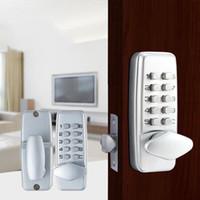 ingrosso la porta chiude la lega di zinco-Metallo meccanico Password Door Lock in lega di zinco impermeabile Serrature a combinazione Famiglia anti usura Hardware Forniture di alta qualità 115js BB