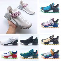 Wholesale trail running shoes for sale - 2018 Homecoming Creme x NERD Solar PacK Human Race Running Shoes pharrell williams Hu trail trainers Men Women runner Sports sneakers