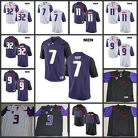 Wholesale football moon - NCAA Washington Huskies Elijah Qualls College Football Jerseys Warren Moon Budda Baker Taylor Rapp Myles Gaskin Washington Huskies Jersey