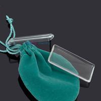 hängende schalen klares glas großhandel-10 stücke modeschmuck 24mm * 48mm (5mmThick) Klar Rechteck Lupe cabochon für anhänger tablett diy foto