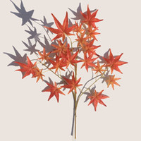 Wholesale green plastic trees online - Simulation Green Planting Plastic Artificial Flower Red Maple Leaf Big Tree Decorate Silk Branch Party Decor dd Ww