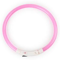 led dog collar achat en gros de-LED collier de chien imperméable à l'eau légère collier USB Rechargeable nuit sécurité rougeoyant collier pour animaux de compagnie pour petit moyen gros chiens fournitures pour animaux de compagnie