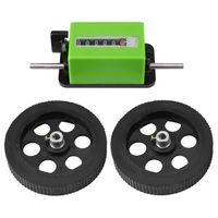 contador de ruedas al por mayor-Metro mecánico del mecánico de la rueda de balanceo del contador del metro de la longitud de JM316 contador 0-99999.9meters
