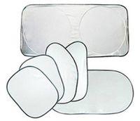 sombrillas de auto ventana lateral al por mayor-6 unids / set revestimiento de plata Side Gear coche sombrilla frontal y lateral y ventana trasera Gear Auto Sun Block