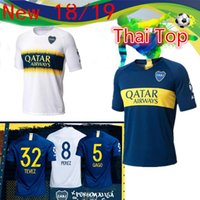 Wholesale boca juniors jersey thai for sale - Group buy SIZE S XL Boca Juniors Home Soccer jerseys Uniforms Men s Thai Quality Soccer Jersey Boca Away Football Blue White Pavon GAGO TEVEZ