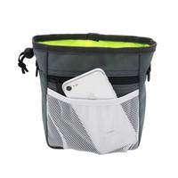 bolsas de basura para mascotas al por mayor-Universal Color sólido Perro Snack Bag Pet Training Treat Bait Pouch Bolsa fácil de limpiar Portátil para exterior Puppy Bolsillo de basura 16 5fy Z