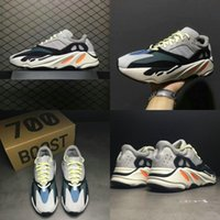 Wholesale mens gray boots - 2018 Mens Boost 700 Runner New Arrivals Run Shoes Cheap Retro Black Gray Blue Sport Boots Discount Sneakers With Box Size 36-45