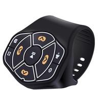 kit de dirección de coche al por mayor-Bluetooth Car kit Coche Volante Control remoto Receptor de audio y música Adaptador de manos gratis para iphone Accesorios