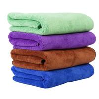 lif temizleme bezleri toptan satış-40 * 60 cm Pet Malzemeleri fiber Köpek Havlusu Kurutma Havlu Moda Pet Banyo Havlu Temizlik Bezi 100 adet / grup T2I107