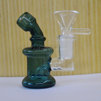 mini ovo verde venda por atacado-Plataforma verde Oil Rig Recycler Plataforma de petróleo Pyrex 3