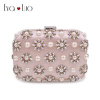 JZX7 DHL Free Shipping Light Pink Beading Pearl Crystal Evening Bags Clutch  Bag Women Clutches Lady Wedding bag Handbag Purse 87abff1d0ada7