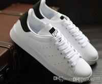 zapatillas rapidas al por mayor-Envío rápido marca de calidad superior de las mujeres de los hombres nuevos zapatos stan moda smith zapatillas de deporte de cuero casual zapatos para correr regalo