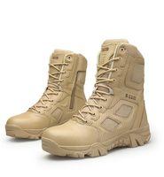 zapatillas sin látex al por mayor-Hombre Desert Tactical Boots Hombre Trabajo Safty Zapatos SWAT Army Boot Tacticos Zapatos Tobillo Combat Boots
